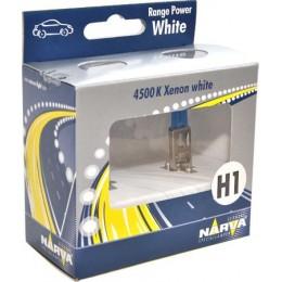 NARVA 48641RPW комплект автоламп 2шт H1 12V 60/55W 4500K (P14,5s)