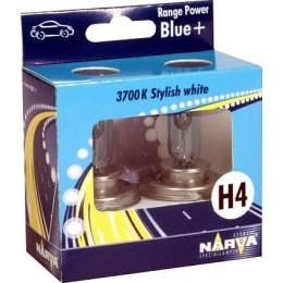 Комплект галогеновых ламп Narva 48677 RPB H4 Range Power Blue +