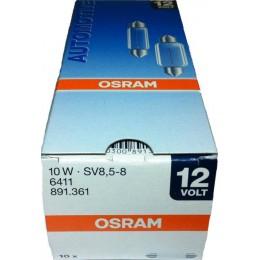 Комплект софитных автоламп Osram 6411 10W SV8.5 10шт.