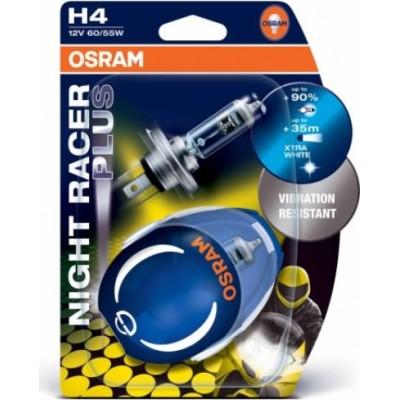 Osram 64193NRP-02B комплект ламп галогенных H4 12V NIGHT RACER PLUS 2шт.
