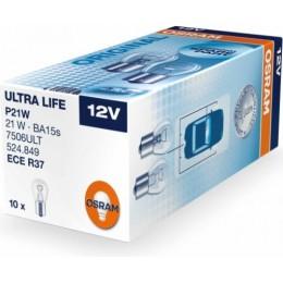 Osram 7506ULT-10 P21W ULTRA LIFE комплект автоламп 12V 10шт.