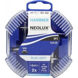 Neolux N448B-DUOBOX Blue Light комлект ламп галогенных H1 2шт.