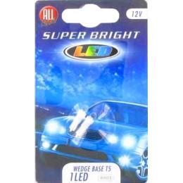 Комплект светодиодных автоламп T5W (2шт.) WHITE 12V All Ride