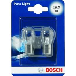 Комплект автоламп Bosch 1987301017 P21W12V-21WPureLigh 2шт.