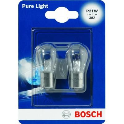 Комплект автоламп Bosch 1987301017 P21W12V-21WPureLigh 2шт