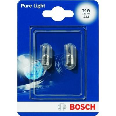 Комплект автоламп Bosch 1987301023 T4W PureLight 2шт