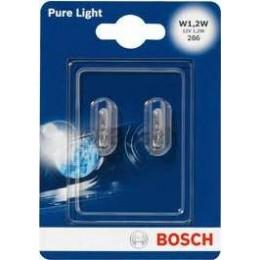 Комплект автоламп Bosch 1987301024 W1.2W 12V 2шт.