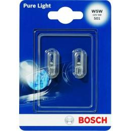 Комплект автоламп Bosch 1987301026 W5W12V-5WPureLigh 2шт.