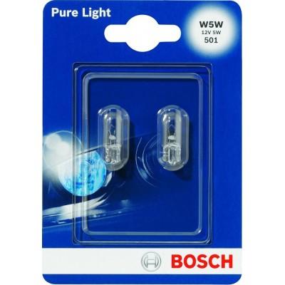 Комплект автоламп Bosch 1987301026 W5W12V-5WPureLigh 2шт