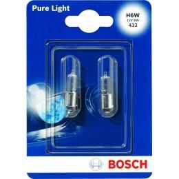 Комплект автоламп Bosch 1987301035 H6W PureLight 2шт.