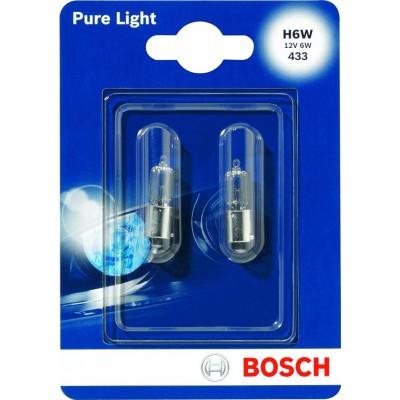 Комплект автоламп Bosch 1987301035 H6W PureLight 2шт