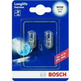 Комплект автоламп Bosch 1987301052 W5W12V-5WLonglifeDaytime 2шт.