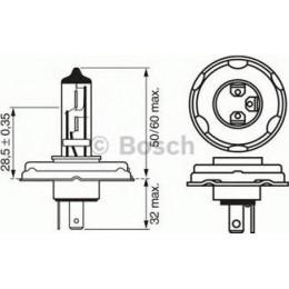Комплект автомобильных ламп Bosch 1987302508 2W 24V BA9s 10шт.