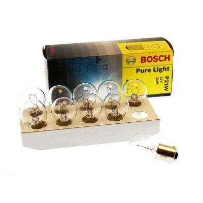 Комплект автоламп Bosch 1987302201 P21W PureLight 10шт