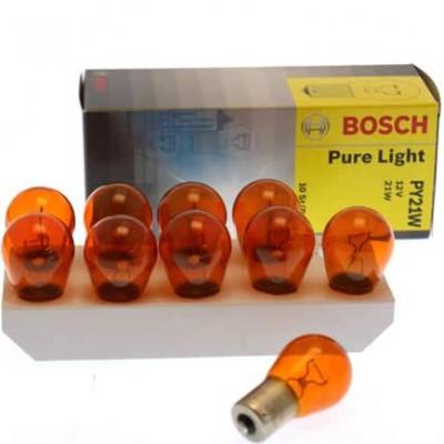 Комплект автоламп Bosch 1987302213 PY21W PureLight 10шт