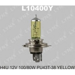 Lynx L10400Y автолампа галогенная H4U 12V 100/80W Yellow