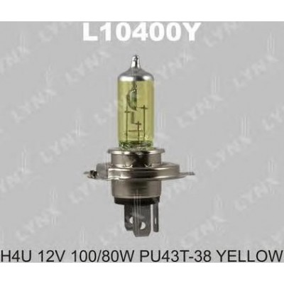 Автолампа галогенная Lynx L10400Y H4U 12V 100/80W Yellow