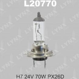 Галогенная автолампа Lynx L20770 H7 24V-70W (PX26D)