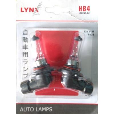 Lynx L12251-02 автолампа галогенная HB4 12V 51W P22D