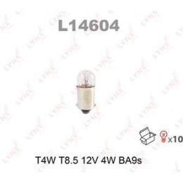 Комплект автоламп Lynx L14604 T4W 12V 10шт.