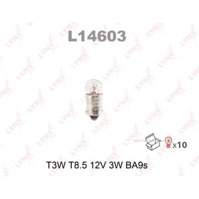 Lynx L14603 T3W комплект автоламп 12V 10шт.