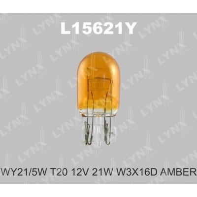Комплект автоламп Lynx L15621Y WY21/5W  12V 10шт