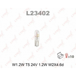 Lynx L23402 W1.2W комплект автоламп 24V 10шт.