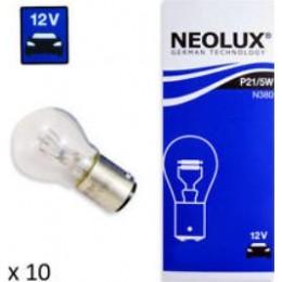 Neolux N380 P21/5W комплект автоламп 12V 10шт.