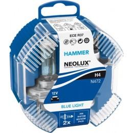 Neolux N472B-DUOBOX H4 Blue Light комплект ламп галогенных 4000K 2шт.