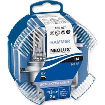 Neolux N472EL-DUOBOX H4 Extra Light комплект ламп галогенных +50% 2шт.