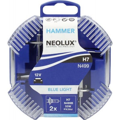 Neolux N499B-DUOBOX H7 Blue Light комплект ламп галогенных 4000K 2шт.