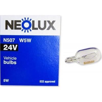 Neolux N507 W5W комплект автоламп 24V 10шт.