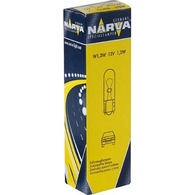 Комплект автоламп NARVA 17037-CP W1.2W 12V 1,2W (W2X4,6d) 10шт