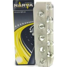Комплект автоламп NARVA 17097 W3W 12V-3W 10шт.