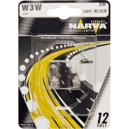 Комплект автоламп NARVA 17097B2 W3W 12V-3W 2шт.