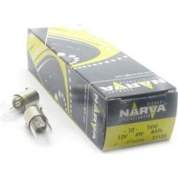 Комплект автоламп NARVA 17131-CP T4W 12V-4W (BA9s) 10шт.