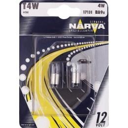 Комплект автоламп NARVA 17131S T4W 12V-4W (BA9s) 2шт.