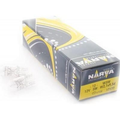 Комплект автоламп NARVA 17177 W5W 12V-5W 10шт