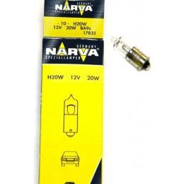 Комплект ламп NARVA 17835 H20W 12V 20W BA9s 10шт.
