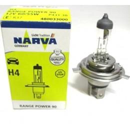Лампа галогенная NARVA 48003  H4 Range Power +90%
