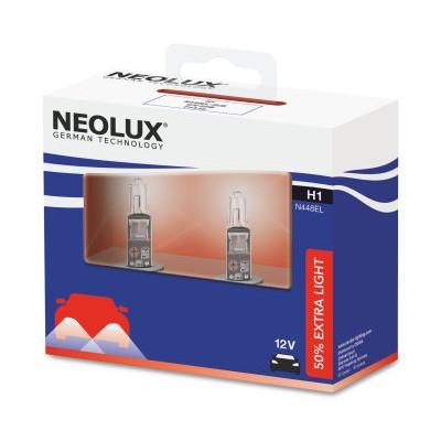 Комлект ламп галогенных Neolux N448EL-SCB Extra Light H1 +50% 2шт