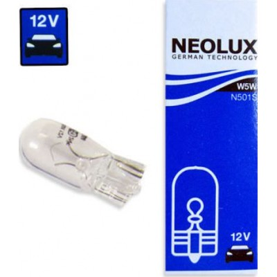 Комплект автоламп Neolux N501 W5W 12V 10шт