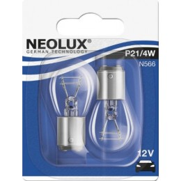 Комплект автоламп Neolux N566-02B P21/4W 12V 2шт.