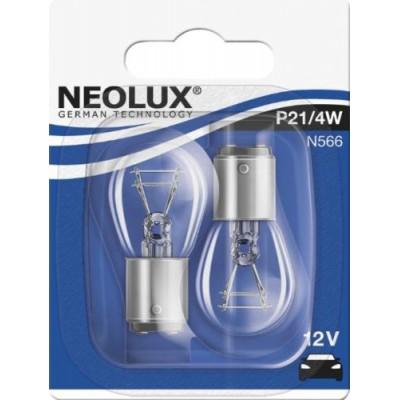 Комплект автоламп Neolux N566-02B P21/4W 12V 2шт