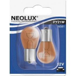 Комплект автоламп Neolux N581-02B PY21W 12V 2шт.