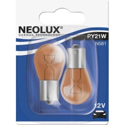 Комплект автоламп Neolux N581-02B PY21W 12V 2шт