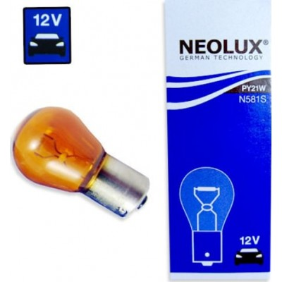 Комплект автоламп Neolux N581 PY21W 12V 10шт