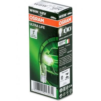 Комплект автоламп Osram 2825ULT-10 W5W ULTRA LIFE 10шт