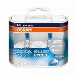 Комплект ламп галогенных Osram 62150CBH+-Box H1 COOL BLUE HYPER+ 2шт.