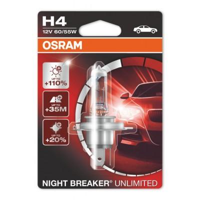 Osram 64193NBU-01B лампа галогенная H4 12V NIGHT BREAKER UNLIMITED